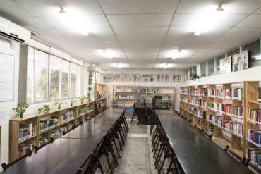 Thư viện tại Cơ sở Hòa Bình của trường ĐHQT Hồng Bàng