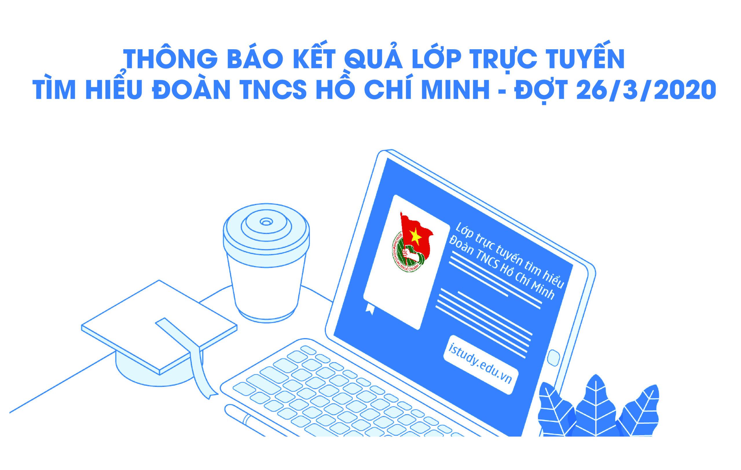 """Thông báo kết quả lớp trực tuyến""""Tìm hiểu Đoàn TNCS Hồ Chí Minh"""" – Đợt 26/3"""