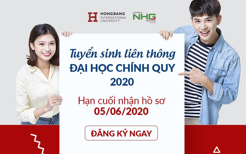 Đại học Quốc tế Hồng Bàng tuyển sinh liên thông đại học chính quy các ngành đào tạo năm 2020