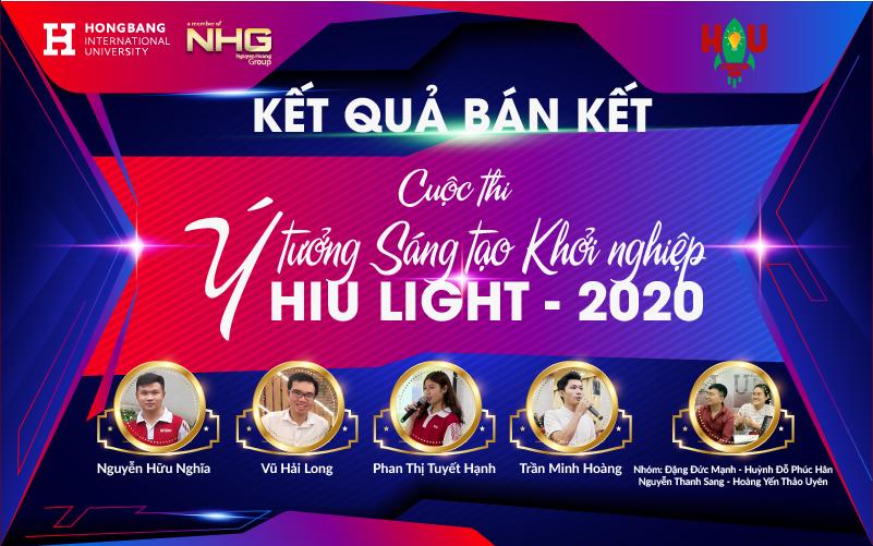 Top 5 vào chung kết Cuộc thi Ý tưởng sáng tạo khởi nghiệp – HIU LIGHT 2020