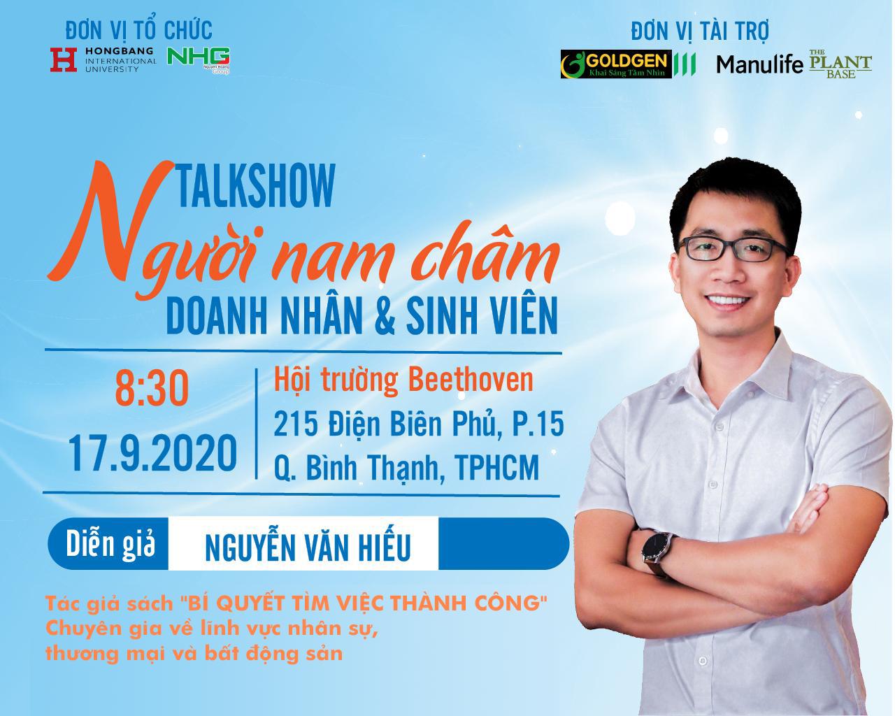 """Người Nam Châm – Sinh viên HIU giao lưu cùng diễn giả sách """"Bí quyết tìm việc thành công"""""""