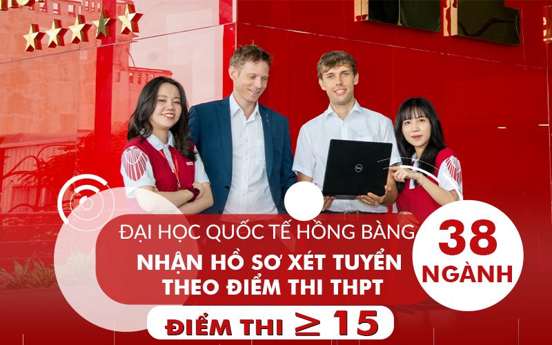 Đại học Quốc tế Hồng Bàng nhận hồ sơ xét tuyển thi THPT từ 15 điểm