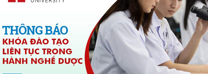 Thông báo về khóa đào tạo liên tục trong hành nghề dược