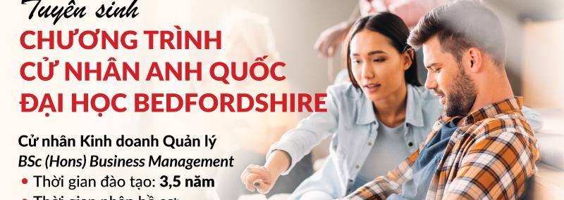 HIU tuyển sinh chương trình cử nhân Anh Quốc Đại học Bedfordshire