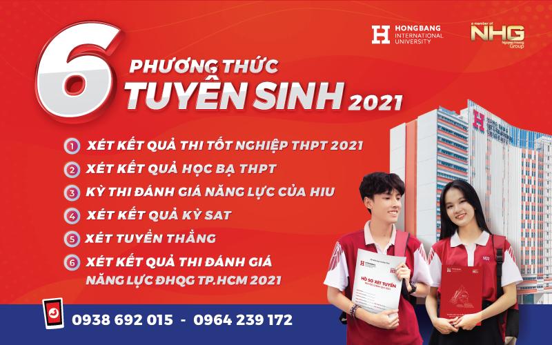 Các phương thức tuyển sinh của Trường Đại học Quốc tế Hồng Bàng