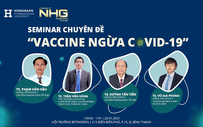 """Seminar chuyên đề """"Vaccine ngừa Covid-19"""""""