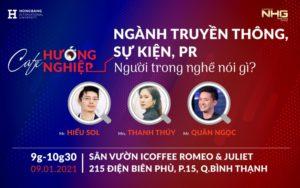 Talkshow: Cafe hướng nghiệp – Ngành Truyền thông, Sự kiện, PR