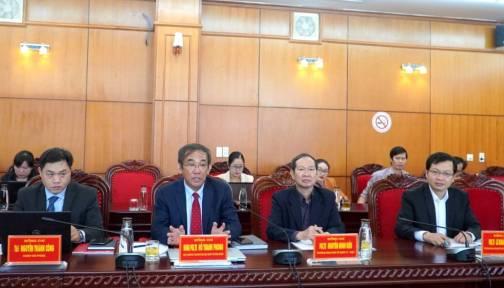 Lãnh đạo tỉnh làm việc với Trường Đại học Quốc tế Hồng Bàng