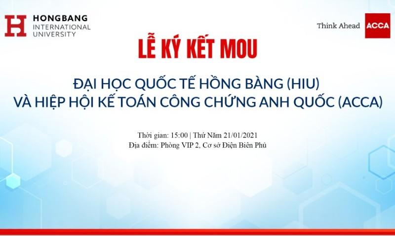 [Sự kiện] Lễ ký kết MOU giữa HIU và ACCA
