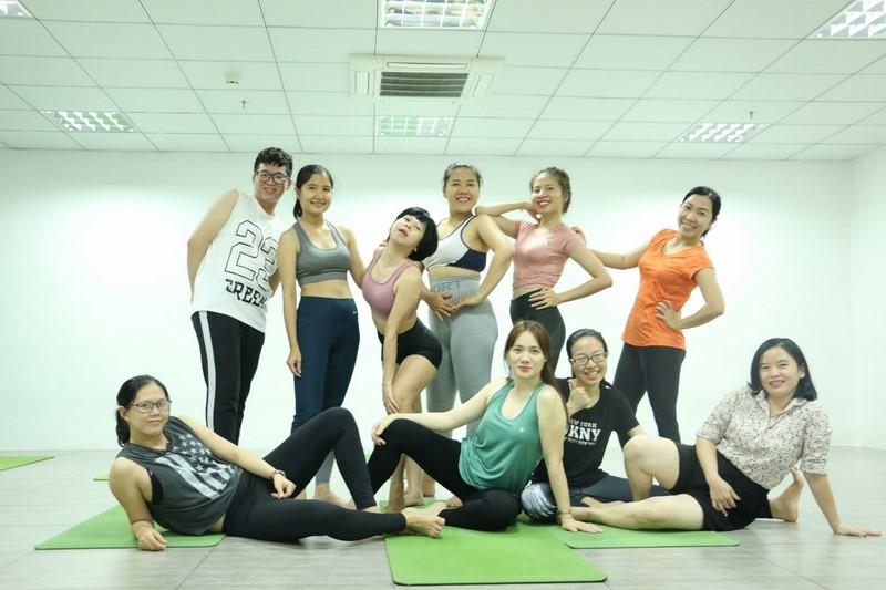 Yoga class by Union Union members of Hong Bang International University