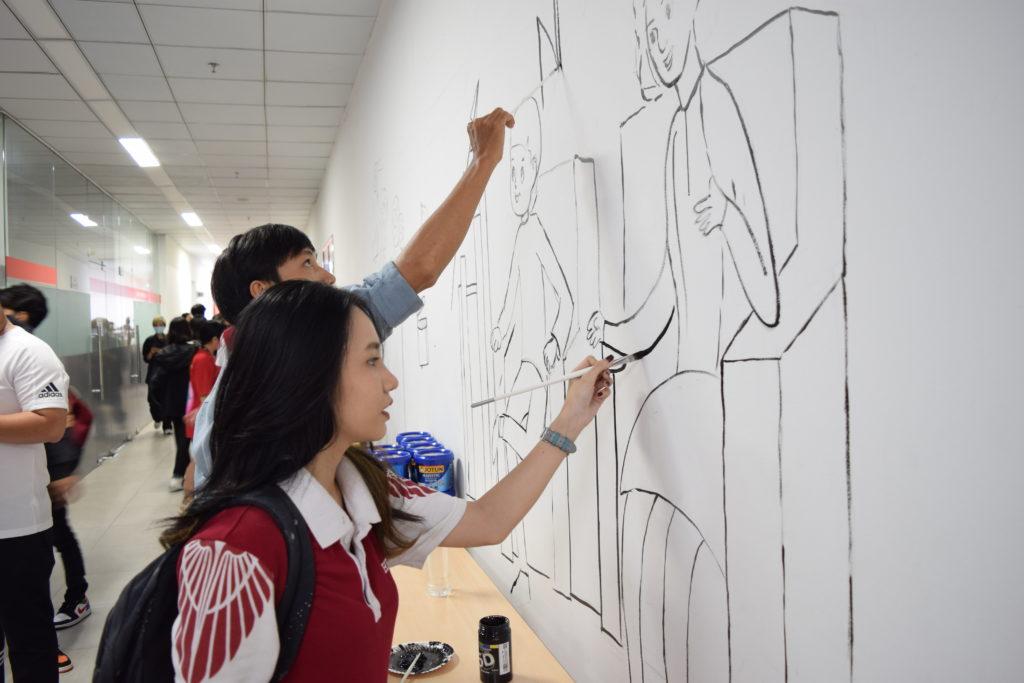 Cùng sinh viên HIU Kiến tạo công trình mỹ thuật HIU