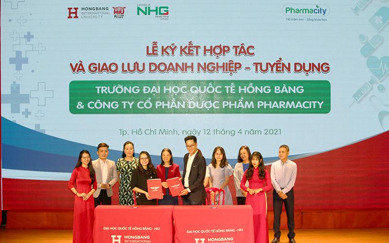 Đại học Quốc tế Hồng Bàng ký kết hợp tác đào tạo và tuyển dụng với Pharmacity