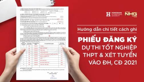 Hướng dẫn chi tiết cách ghi phiếu đăng ký dự thi tốt nghiệp THPT và xét đại học 2021