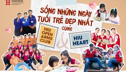 Sống những ngày tuổi trẻ đẹp nhất cùng HIU Heart và HIU Open Arms Club
