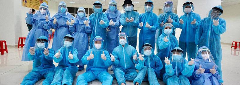 Sinh viên HIU tham gia tình nguyện chống dịch
