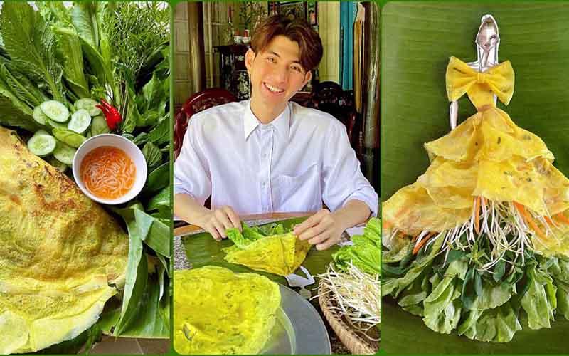 Độc đáo thời trang từ các loại bánh miền Tây của NTK Nguyễn Minh Công