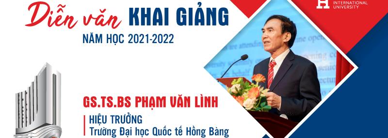 Thay mặt lãnh đạo nhà trường, GS.TS.BS Phạm Văn Lình – Hiệu trưởng Nhà trường đã đọc diễn văn khai giảng năm học mới 2021-2022.